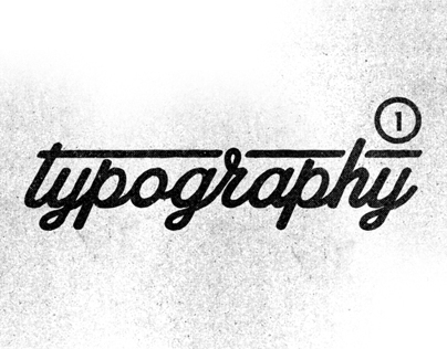 Typography Pt. 01 on Behance