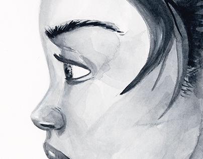 Woman Watercolor Portrait