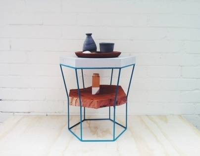 LINZI Stool + Side Table - material experiments