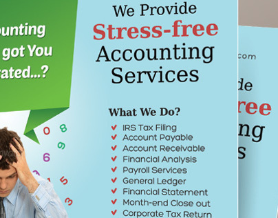 Accounting and bookkeeping services flyers on behance for Free bookkeeping brochure templates