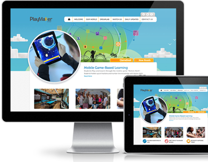 Playmaker School website deisgn