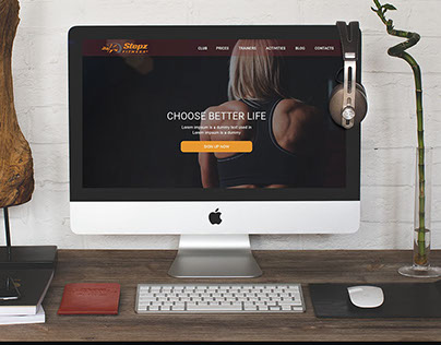 """Stepz Fitness"" sports club Web design"