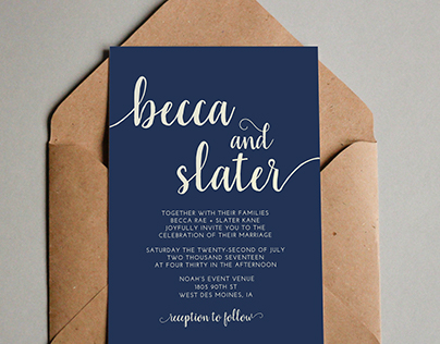 Edit Project Wedding Invitation Design // Typography