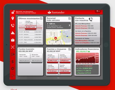 iPad Bank Santander México App