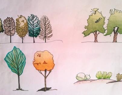 3º semestre - Primeiros Desenhos -  Árvores - DP2
