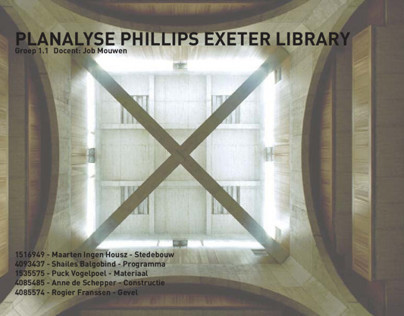 Urban & Architectural Analysis Phillips Exeter Library