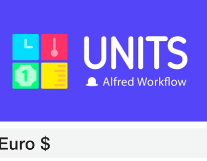 Units Alfred workflow