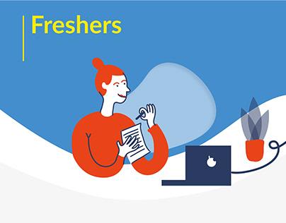 Freshers - Ilustrowany landing page