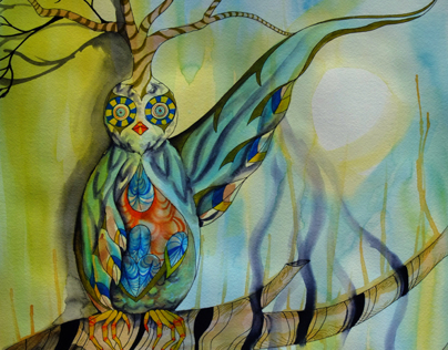 2012 Watercolor - Branches