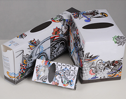 'Even More Sustainable!' Tissue boxes - Yosra Alkaff