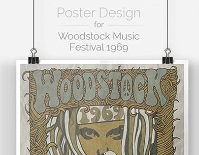 Woodstock Music Festival 1969 | Poster Design