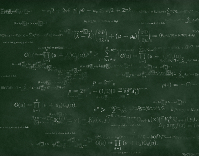 Math Formulas Chalkboard Backgrounds