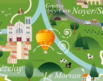 Yonne Tourism Map (Burgundy) / Carte Yonne Tourisme
