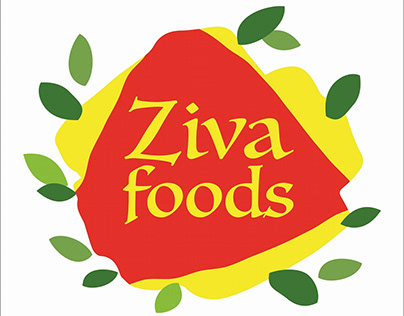 cover page design ziva foods