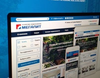 Adaptive design site for real estate company