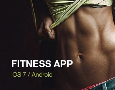 Contar calorias. Fitness application