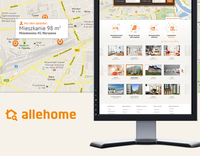 Allehome - Real Estate Search Engine - Web, CI, Design
