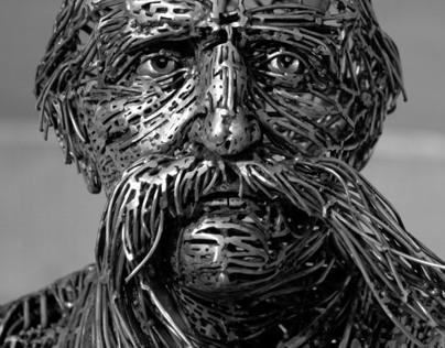 Escultura a Ildefons Cerdà, Centelles, Barcelona, Spain