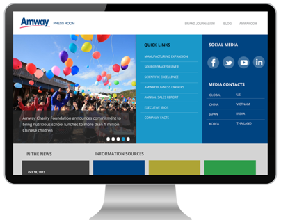 Amway Press Room Website