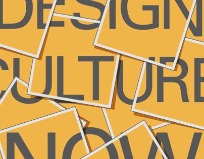 Design Culture Now - Poster