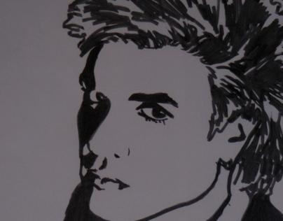 graphic marker portraits