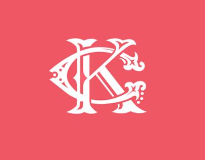 Cheng Kang & Katherine wedding logo & invite