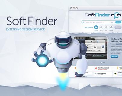 SoftFinder.com - Logo / Web Design / Character Design