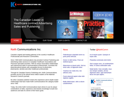 Keith Communications - Corporate Website