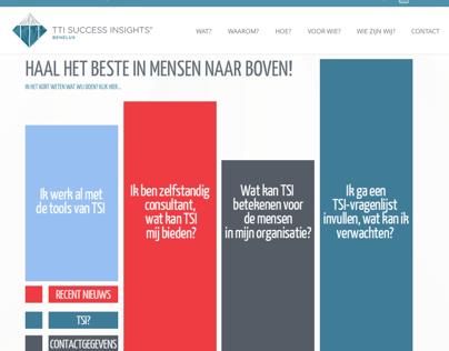 Artwork design homepage TSI online assessment tools