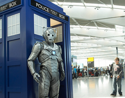 Doctor Who takes over Heathrow T5  #WhereDoYouWantToGo