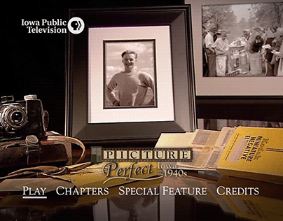 Picture Perfect: Iowa in the 1940s | DVD Menus