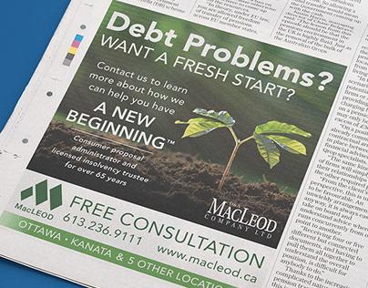 Newspaper Advertisement Design for D & A MacLeod