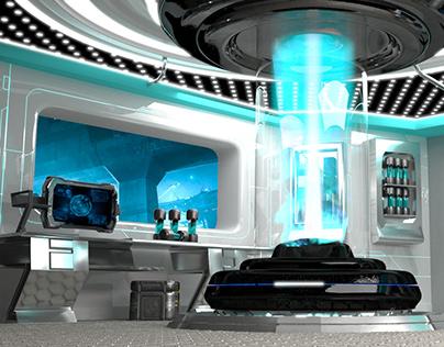 Sci-fi 3d Station