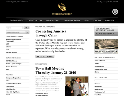 US Mint Intranet Redesign