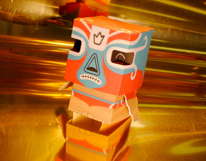 Paper toy luchador