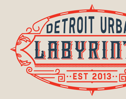 Detroit Urban Labyrinth Branding