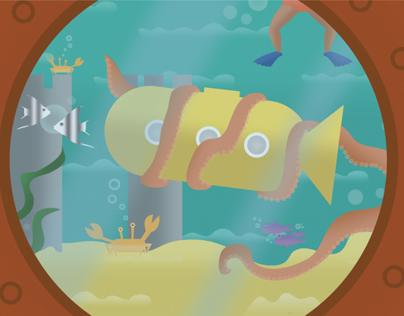 Under the sea - Vector Illustration