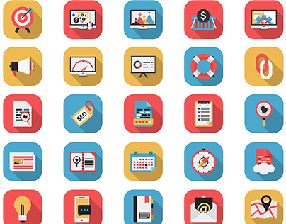 Flat Icons - SEO Icons & Web Icons | FlatLineIcons.com