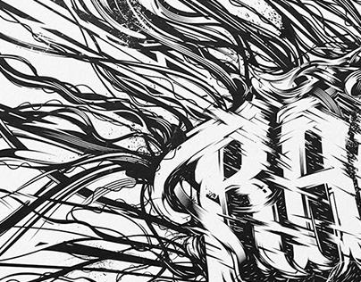 Rage Lettering Artwork