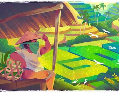 Google Doodle - Celebrating Subak