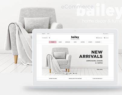eCommerce Website for Bailey Home Decor & Furniture