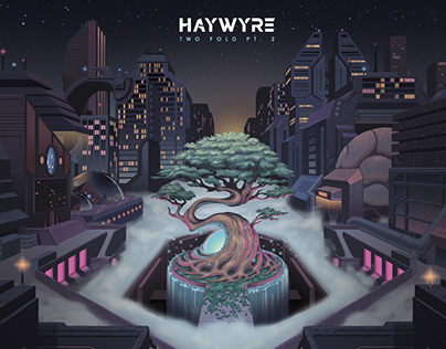 "Haywyre ""Two Fold Pt. 2"" Album Cover and Live Visuals"