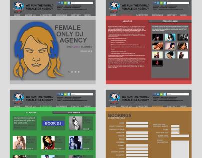 WRTW Female DJ Agency Website Redesign