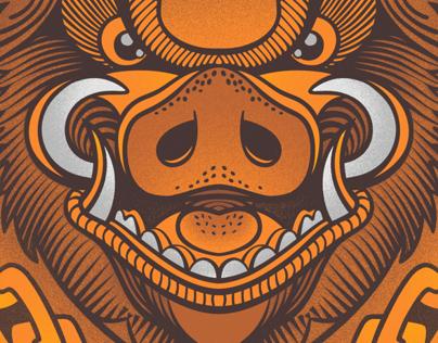 Gold boar