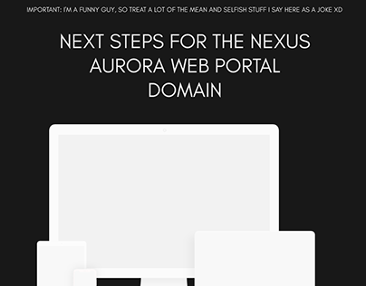Nexus Aurora Web Portal Next Steps