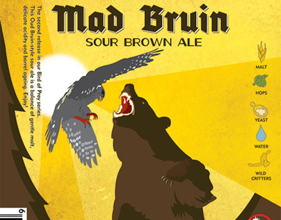 Design and illustration for Driftwood's Mad Bruin Sour