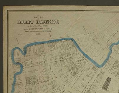 Plan of Burnt District 1876