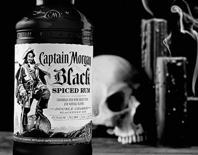 Captain Morgan Black Spiced Rum Kit and Brand Book