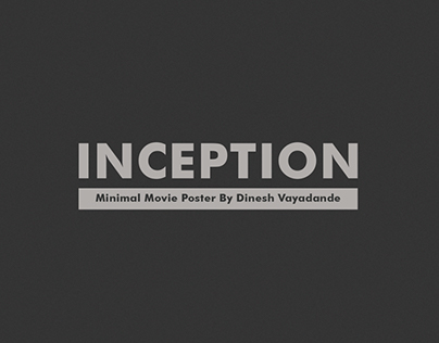 Inception - Minimal Movie Poster