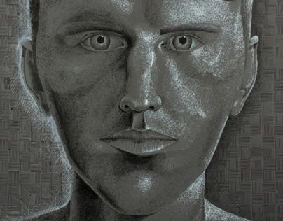 Pen & Ink Self Portrait